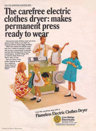 vintage dryer ad